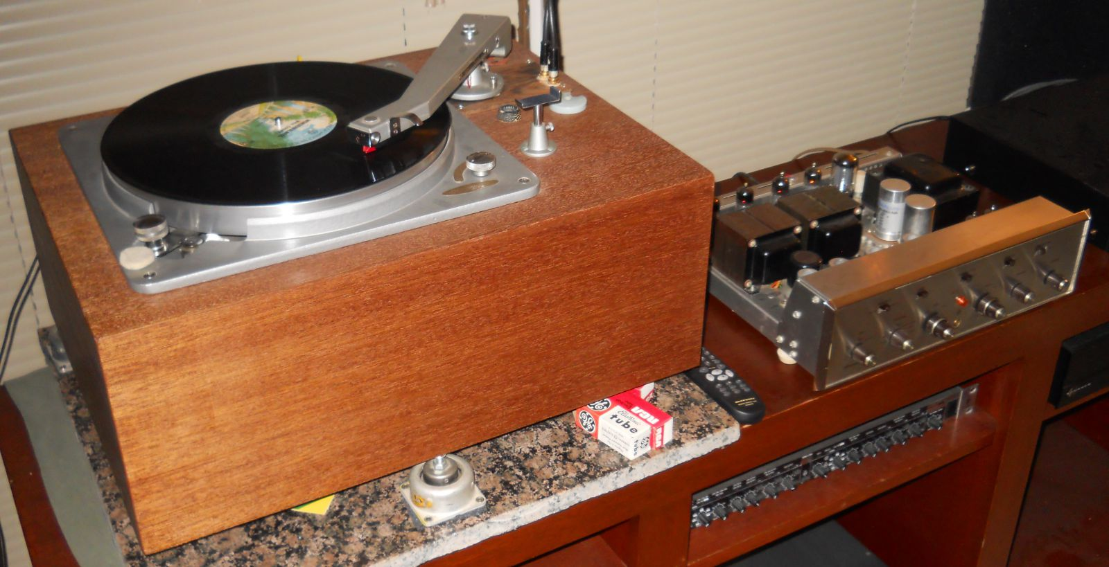 "Music Master ""Point One Five"" idler drive turntable w/Velvet Touch tonearm, Stanton/Pickering fluxvalve type stereo cart"