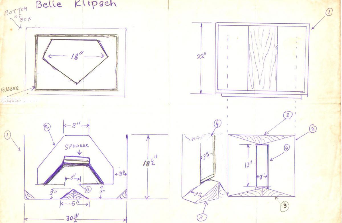 how does a folded horn like the belle work general klipsch info the klipsch audio community. Black Bedroom Furniture Sets. Home Design Ideas