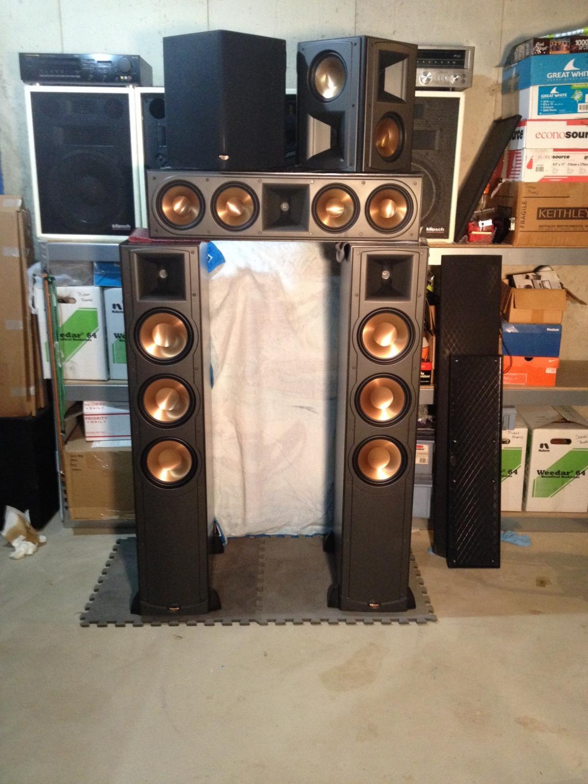 klipsch rf 83 rc 64 rs 62 rt 12d 3000 plainfield il garage sale the klipsch audio. Black Bedroom Furniture Sets. Home Design Ideas