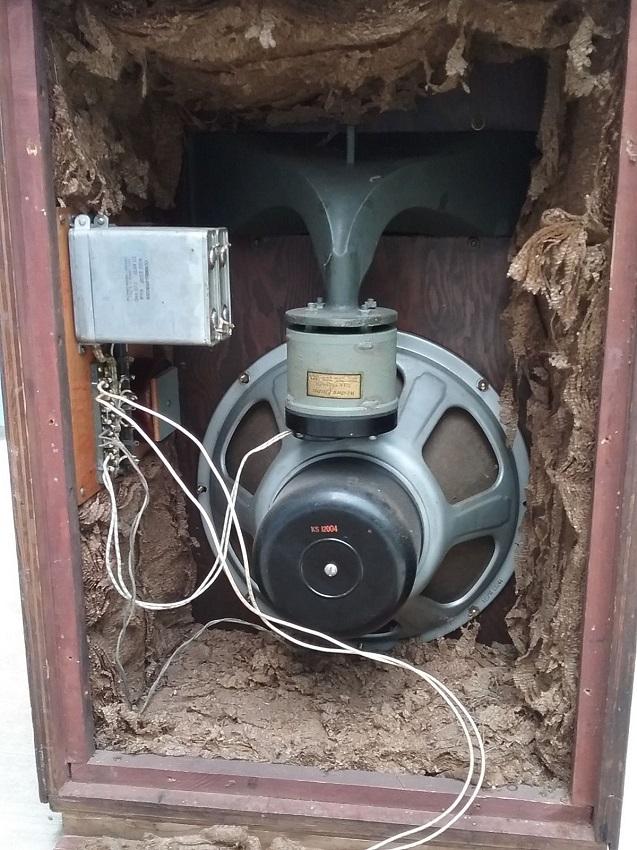 Original 1960s Klipschorn Corner Horn Speaker Garage
