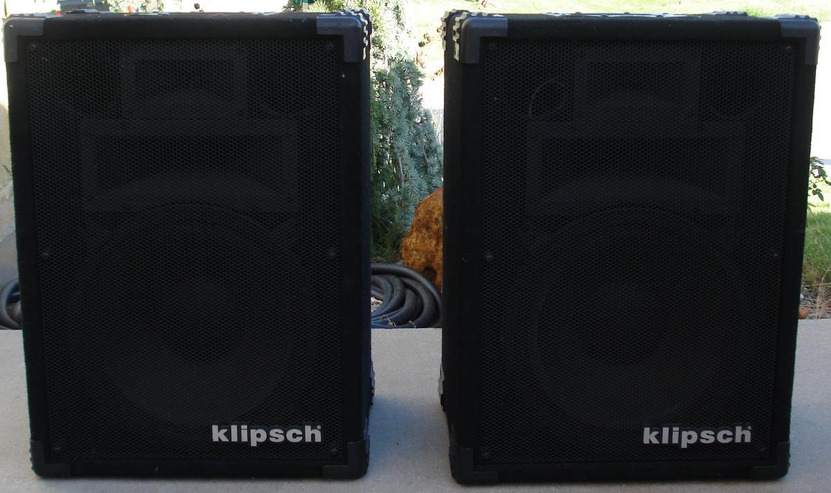 Klipsch Kp 2500 C Pro Audio Speakers Pair Sold Garage