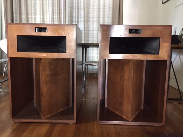 vintage 1978 klipsch la scala speakers near perfect. Black Bedroom Furniture Sets. Home Design Ideas