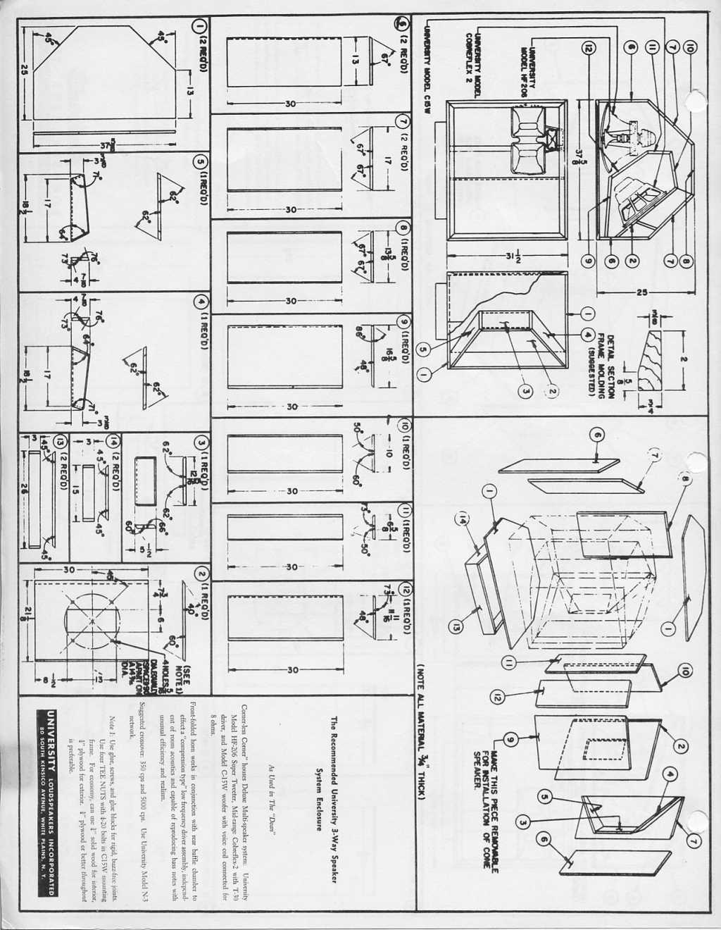 university classic corner plans technical modifications the klipsch audio community. Black Bedroom Furniture Sets. Home Design Ideas