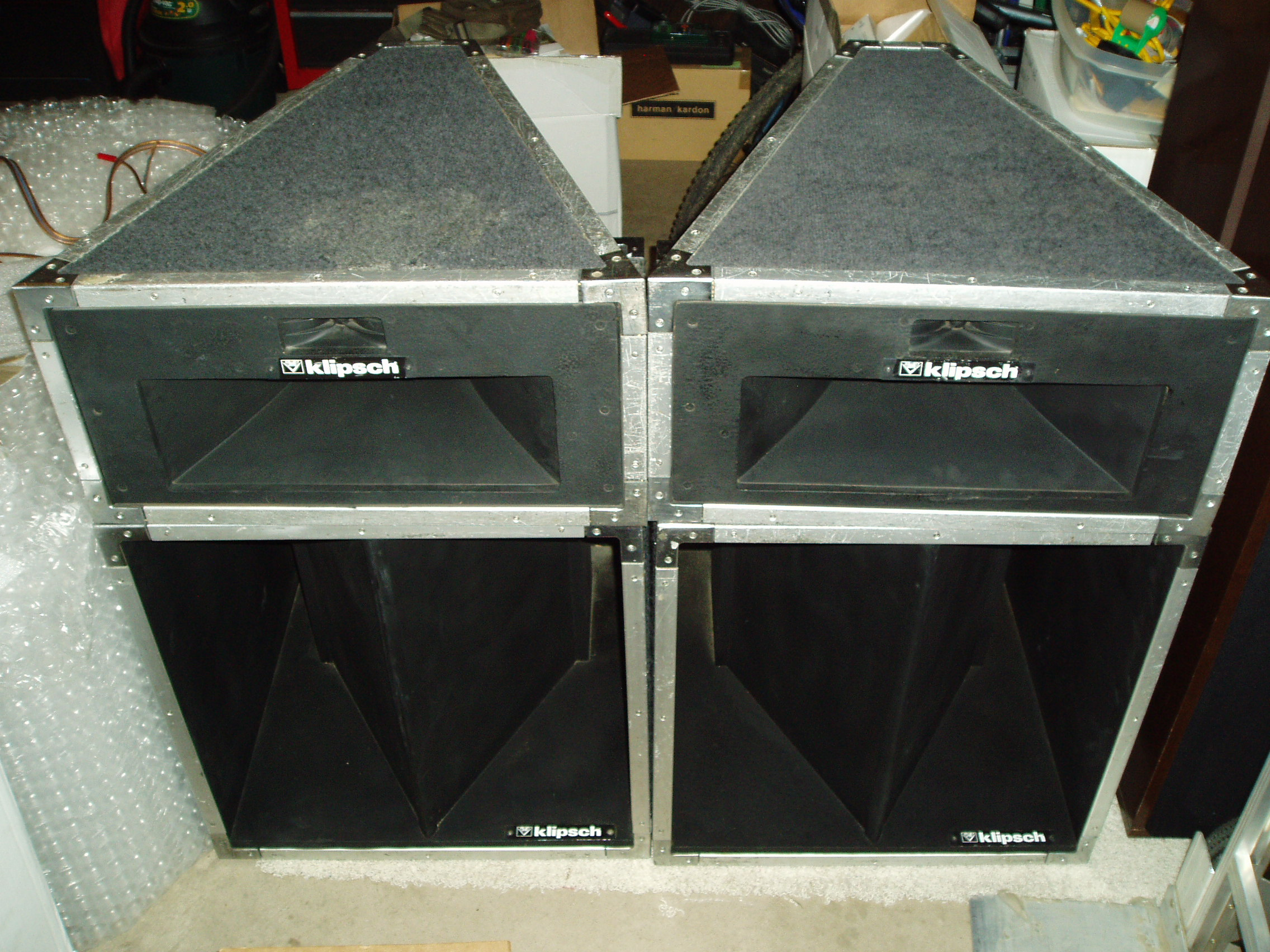 Lascala Industrial Split Cabinets 2 Channel Home Audio