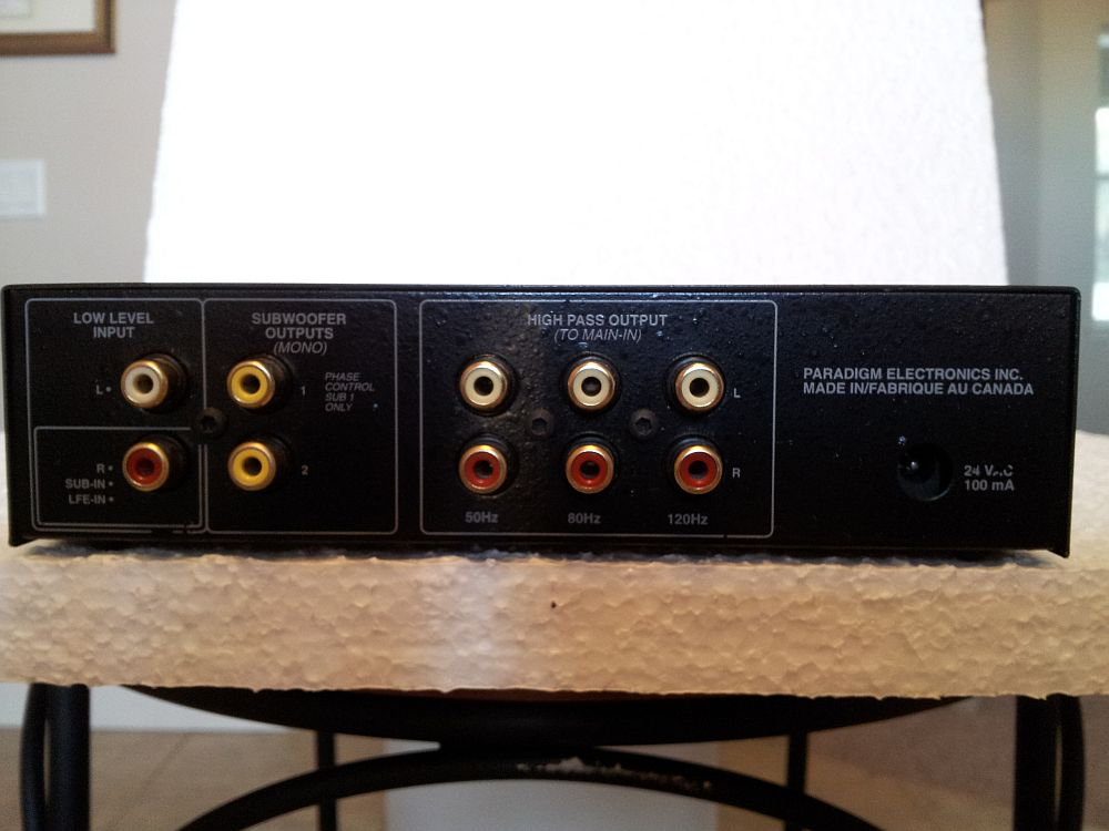Fs Paradigm X 30 Subwoofer Crossover 140 00 Sold