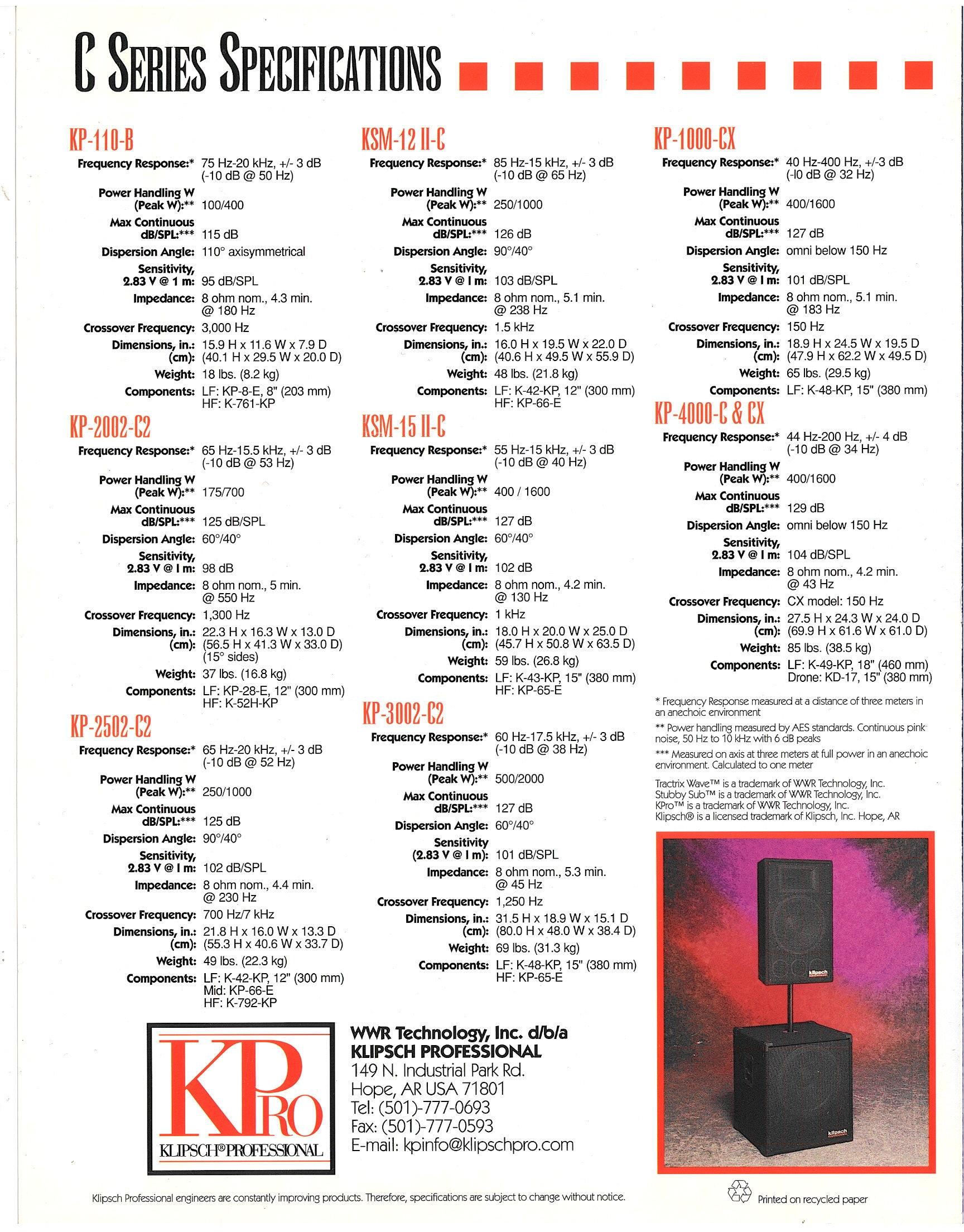 klipsch kp 3002 c2 garage sale the klipsch audio community. Black Bedroom Furniture Sets. Home Design Ideas