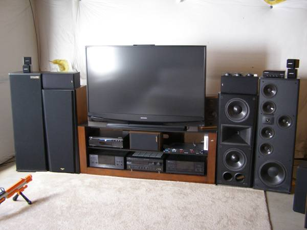 Klipsch CF-3 and electronics at garage sale (Colorado Springs, CO ...