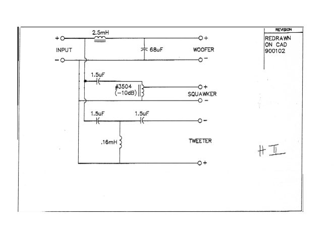 Looking For Schematic Or Diagram  Aa Crossover Network And