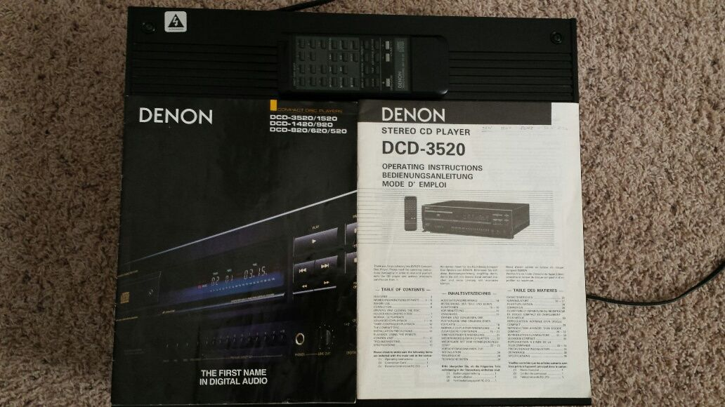Price Drop Denon Dcd 3520 Sold Garage Sale The Klipsch Audio