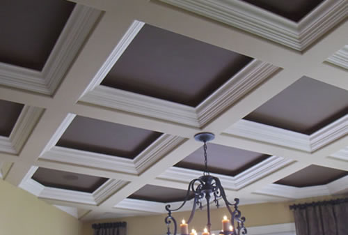 Coffered ceiling boon or bust 2 channel home audio for Types of ceiling designs