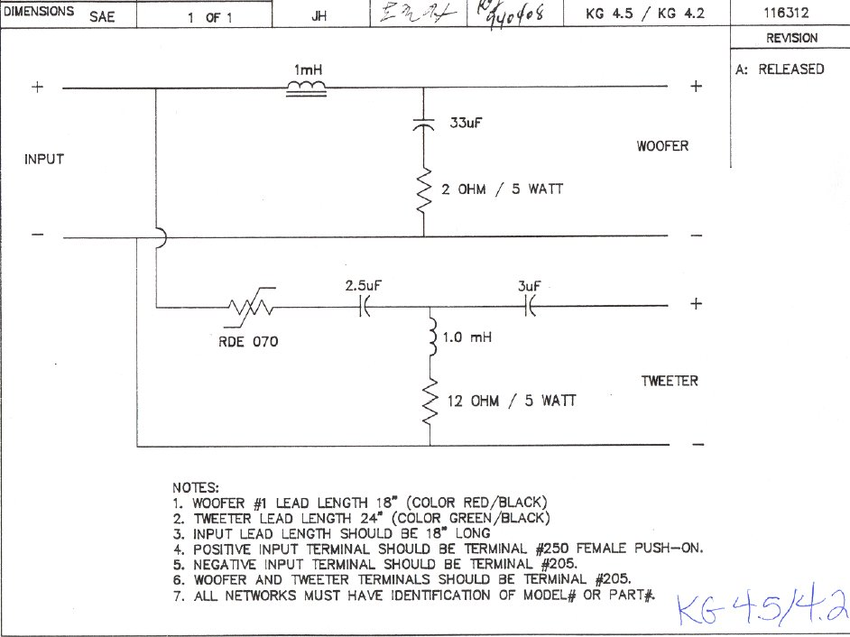 bose 301 wiring diagram klipsch crossovers page 3 technical modifications  klipsch crossovers page 3 technical modifications