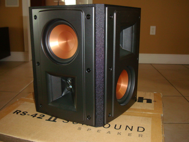 klipsch rs 42ii surround pair speaker black garage sale. Black Bedroom Furniture Sets. Home Design Ideas