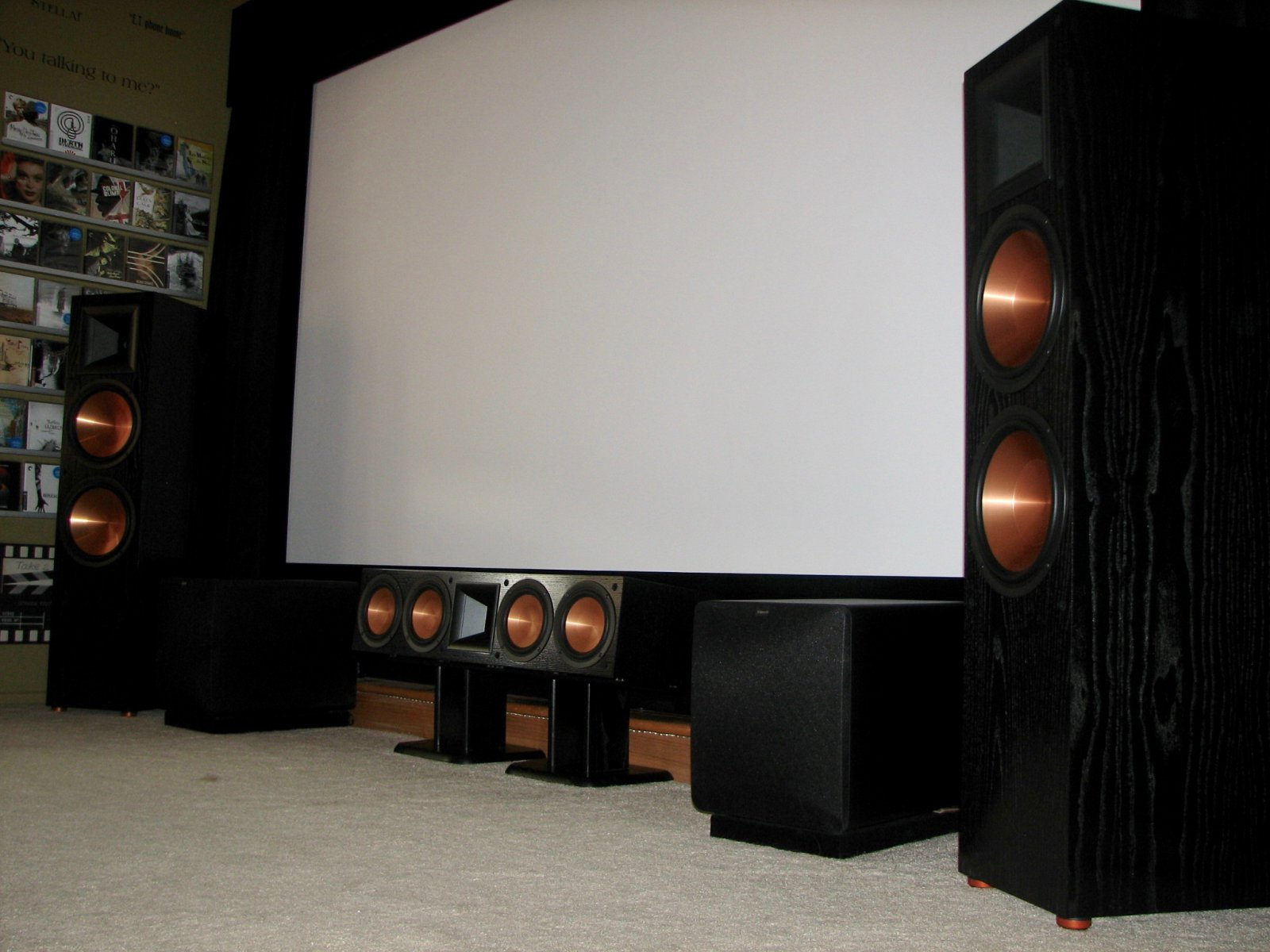 Movie room screen wall update 2 home theater showcase the klipsch audio community - Home theater screen wall design ...