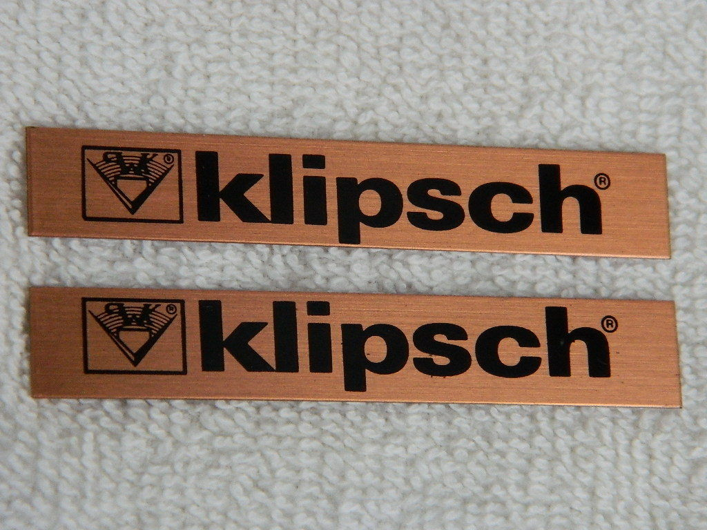 Did Klipsch Make The Older Style Metal Badges? - Ask the Historian - The  Klipsch Audio Community