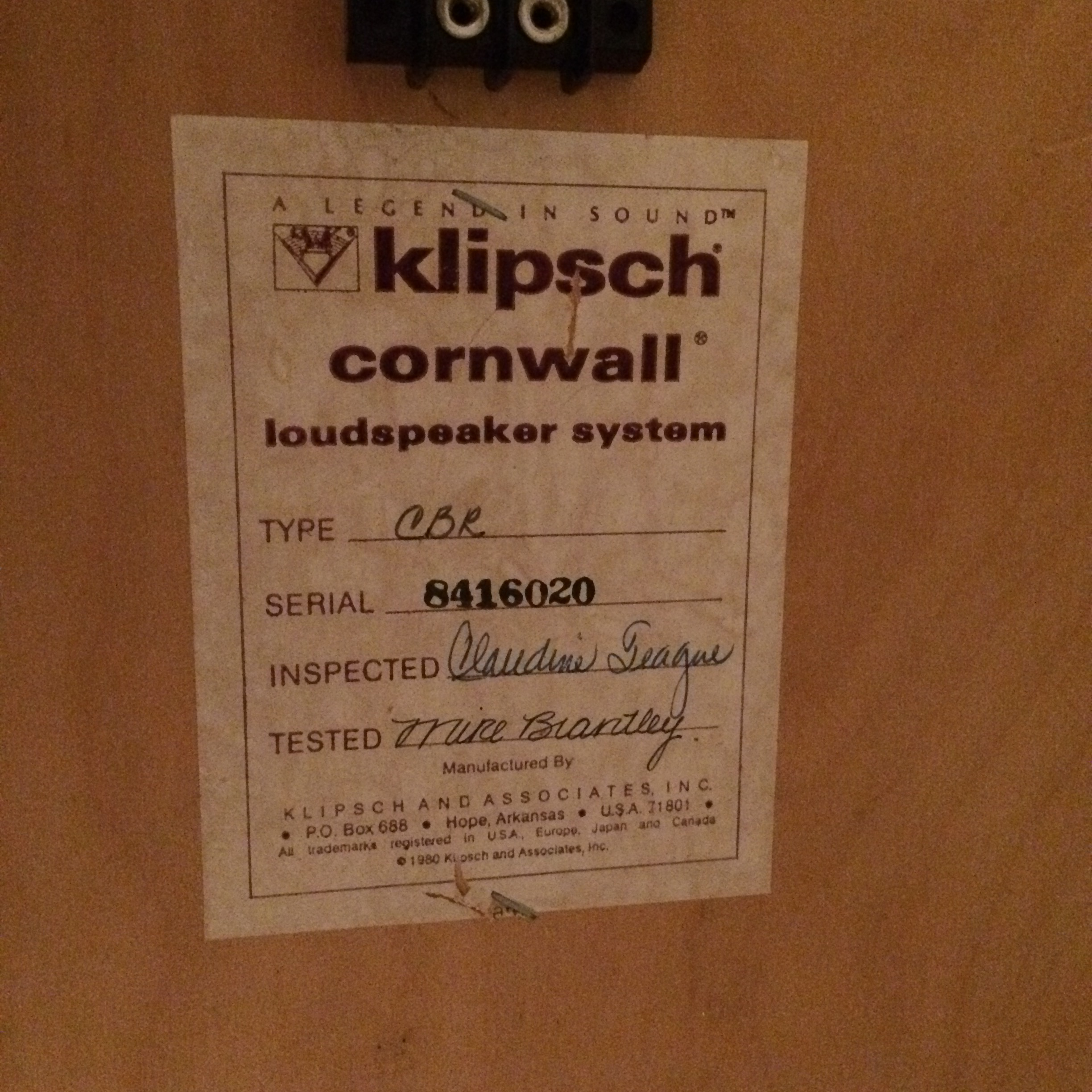 Cornwalls In Rockville MD Garage Sale The Klipsch Audio munity