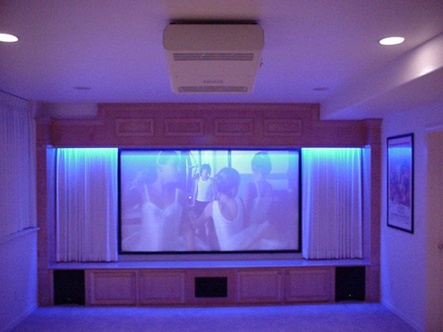 "Clean Custom hidden Klipsch system 105"" Screen"