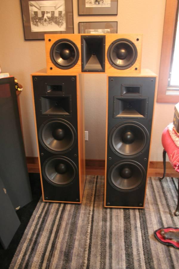 Oak Klipsch KLF-30 and KLF-C7 - $1100 (Milwaukee, WI ...