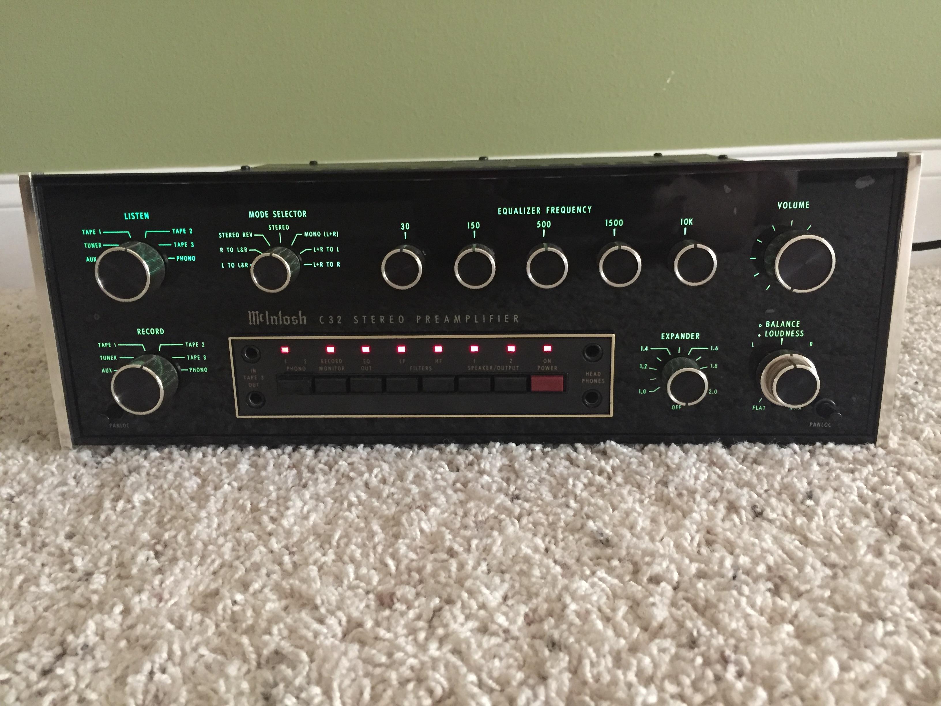 Mcintosh C32 Preamp Sold Garage Sale The Klipsch Audio