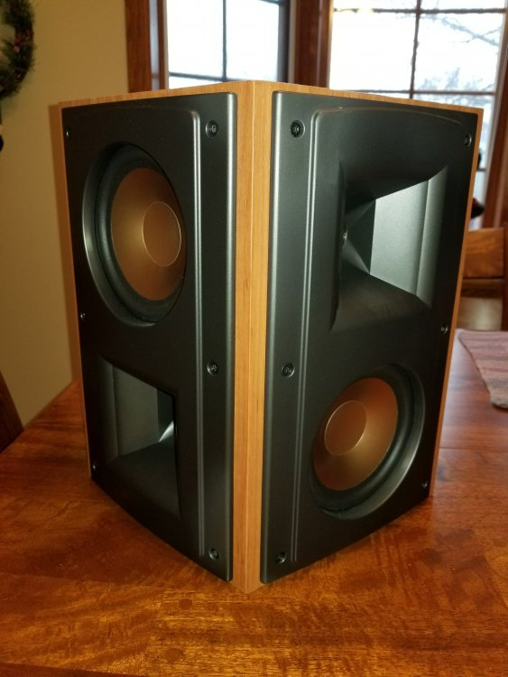klipsch cherry rs52s minty 425 shipped sold garage sale the klipsch audio community. Black Bedroom Furniture Sets. Home Design Ideas
