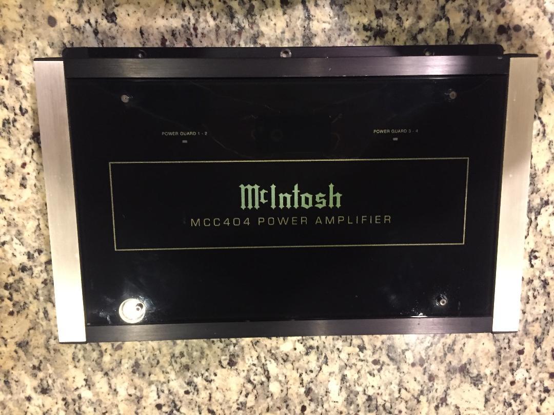 Mcintosh Mcc404 And Mcc301m Car Audio Amplifiers Garage Sale The