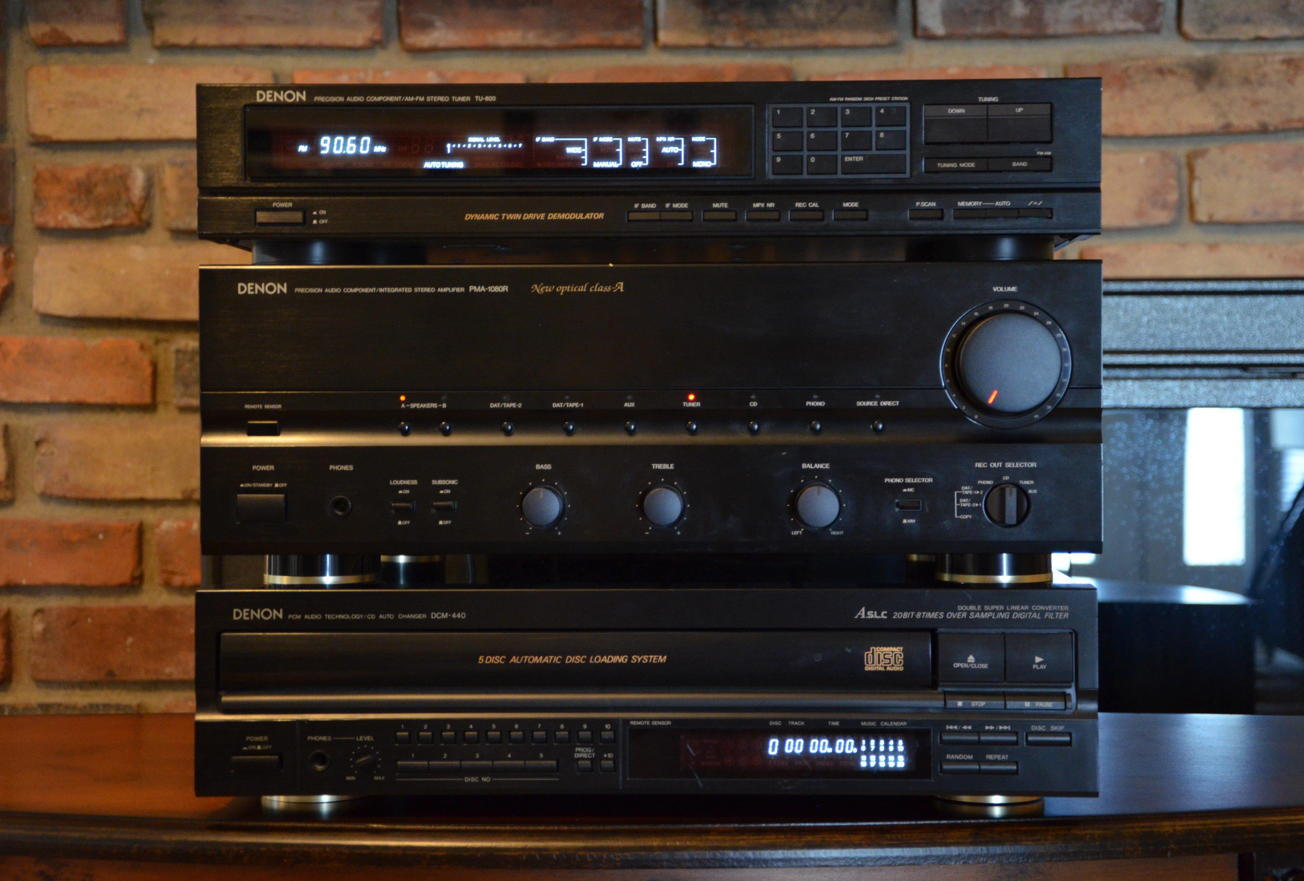 Denon Pma 1080r Tu 800 And Dcm 440 300 Garage Sale
