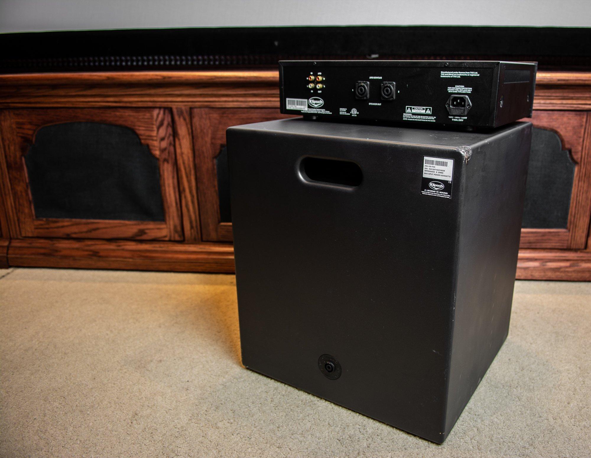 Klipsch Kw 120 Thx Ultra2 Subwoofer With Ka 1000 Amplifier